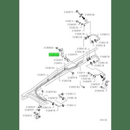 BRACKET,T/M OIL COOLER LINE 1
